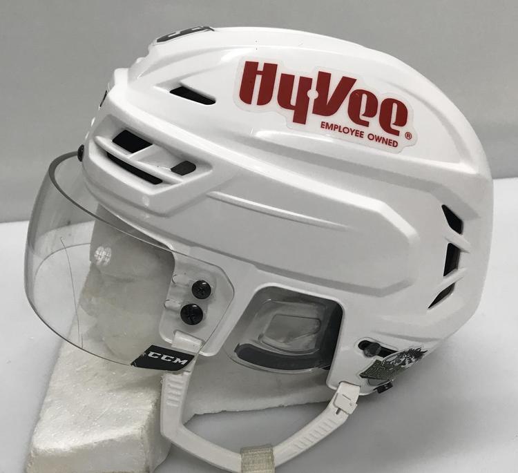 1f06cea1e14 CCM Tacks 710 Pro Stock Hockey Helmet Large White CCM Visor AHL 12311