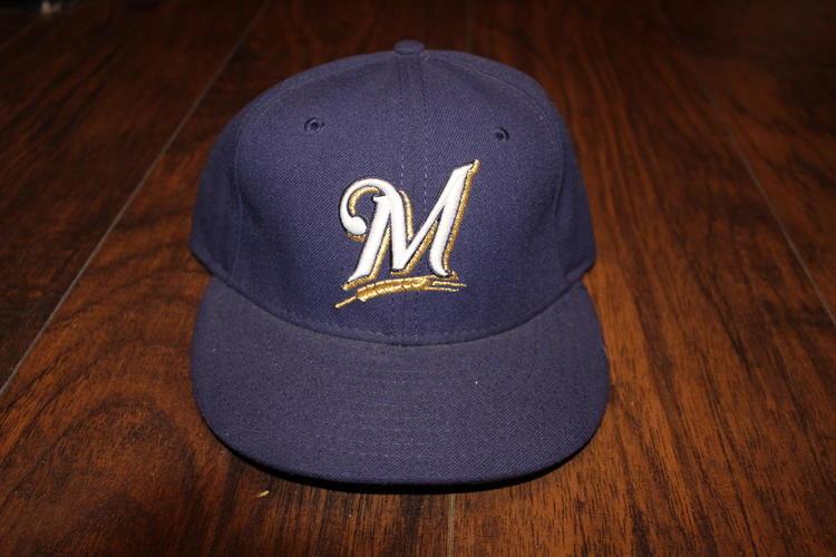 Milwaukee Brewers MLB Navy New Era Size 7 1 8 5950