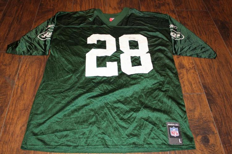 sale retailer cd61e 6ec83 Curtis Martin New York Jets NFL Reebok Jersey Sz Lg