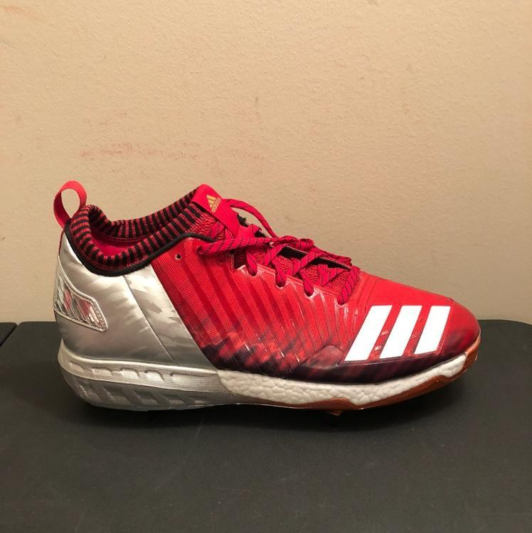 349a74da6 Adidas Boost Icon 3 Metal Baseball Cleats Red Silver White BY3682 Men s Size  12. Related Items