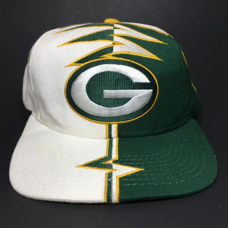 d62d8d78b9a23 Vintage Green Bay Packers Snapback Hat Starter Shockwave. Related Items