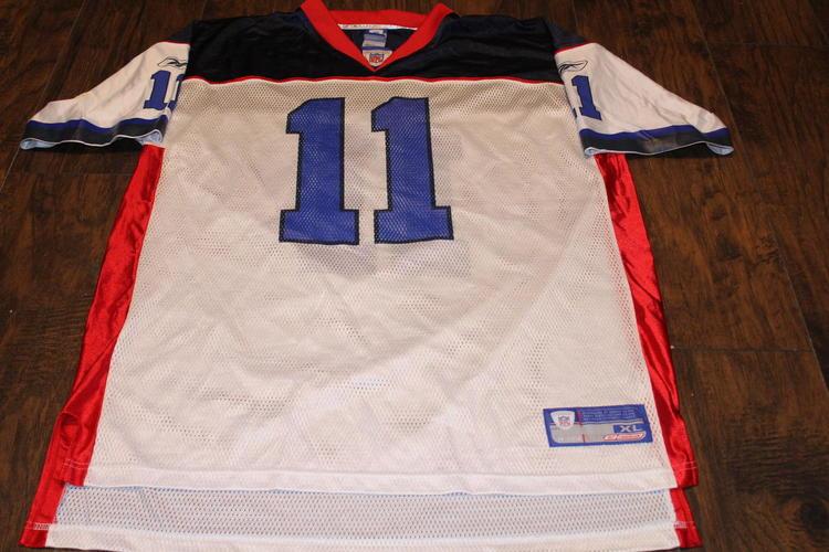 info for f42c3 8f7f2 Drew Bledsoe Buffalo Bills Reebok White XL Jersey