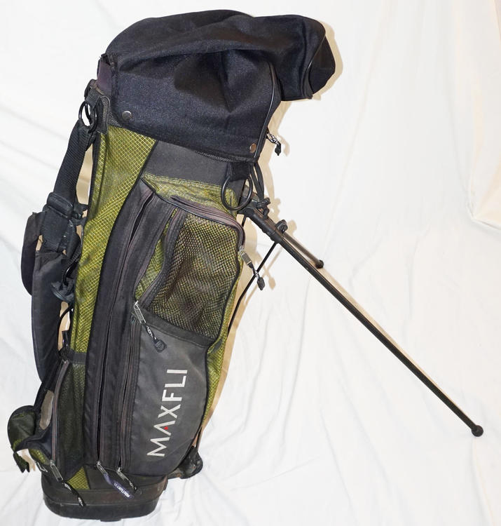 Maxfli Golf Bag Carry Or Stand Green Black Dual Strap Well Used