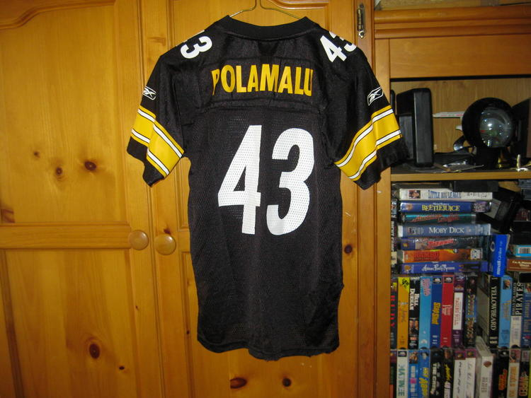 new concept 489d9 55114 STEELERS TROY POLAMALU YOUTH REEBOK HOME JERSEY(M 10/12)