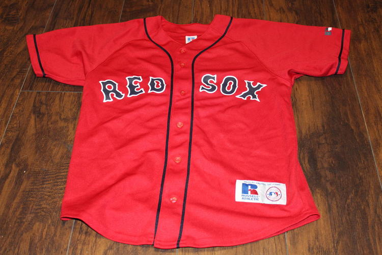 sale retailer 0c630 b032b David Ortiz Boston Red Sox Russell Athletic Youth Large 14-16 Red Jersey