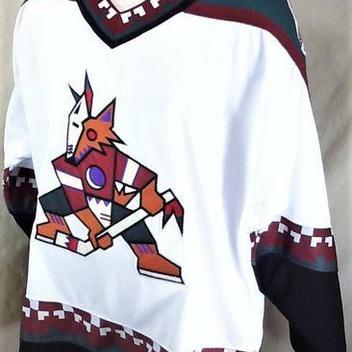 b6bae49df VINTAGE 90 S STARTER PHOENIX COYOTES (XL) RETRO PULLOVER KNIT NHL HOCKEY  JERSEY
