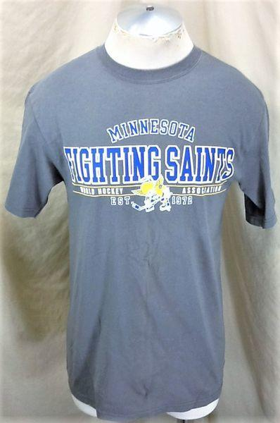 VINTAGE MINNESOTA FIGHTING SAINTS (MEDIUM) INDEPENDENT HOCKEY GRAPHIC SHIRT