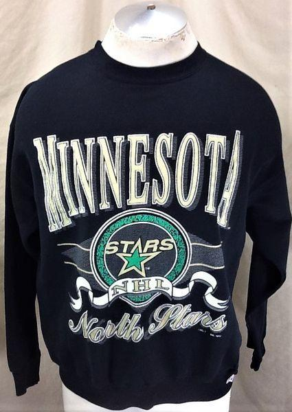 de33decb9 VINTAGE 1992 LOGO 7 MINNESOTA NORTH STARS (LARGE) RETRO NHL HOCKEY CREW  NECK GRAPHIC SWEATSHIRT
