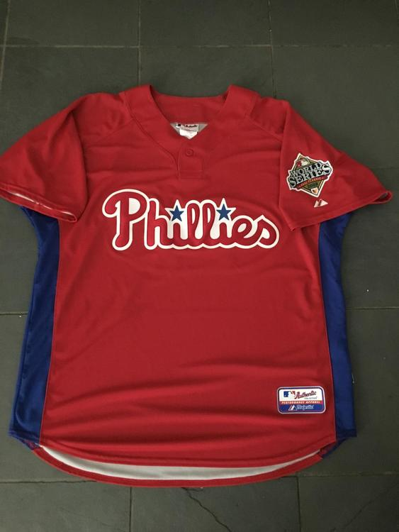 30e4e4d8e ... top quality 2008 chase utley 26 philadelphia phillies world series batting  practice jersey majestic new listing