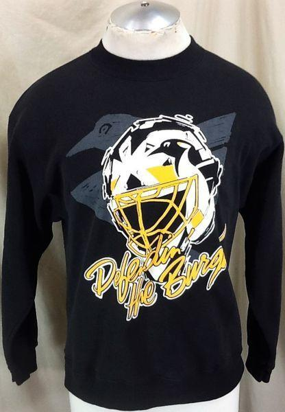 Vintage 90s Pittsburgh Penguins Nhl Medium Retro Graphic Crew