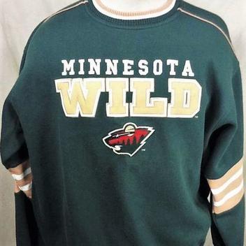88727261b MINNESOTA WILD NHL LARGE GRAPHIC CREW NECK SWEATSHIRT | Hockey ...