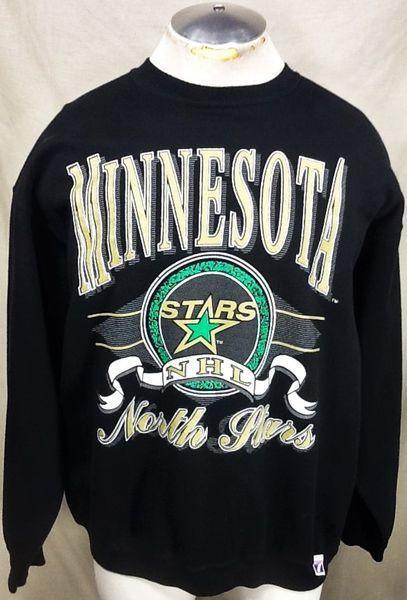 6d8a2a900 VINTAGE LOGO 7 MINNESOTA NORTH STARS (XL) RETRO NHL HOCKEY CREW NECK  GRAPHIC SWEATSHIRT