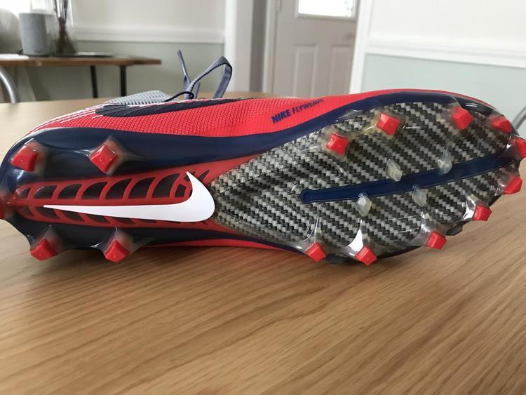 7e815f956d19 Nike New Vapor Untouchable Pro Cleats Custom Patriots/Giants | Lacrosse  Footwear | SidelineSwap
