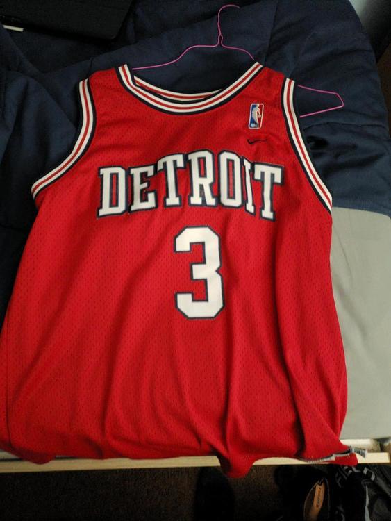 8def45a6e Nike Vintage NBA Detroit Pistons  3 Ben Wallace Rewind Jersey L +2 ...