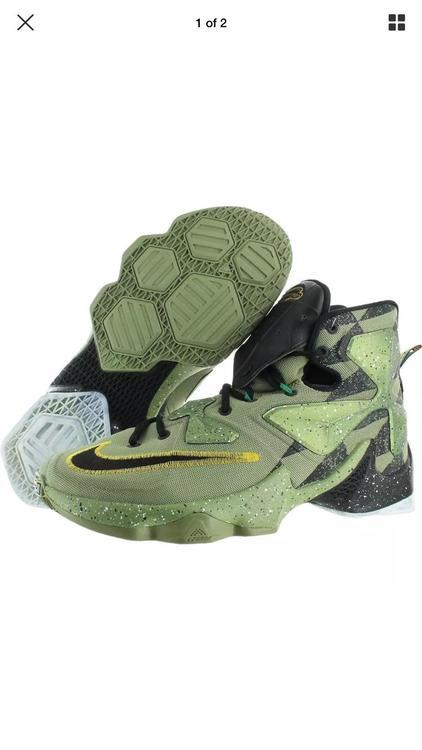 on sale 50ec3 81ab0 Nike Mens Lebron XIII AS Alligator Black Mesh Basketball Shoes 9.5 Medium  835659. Related Items