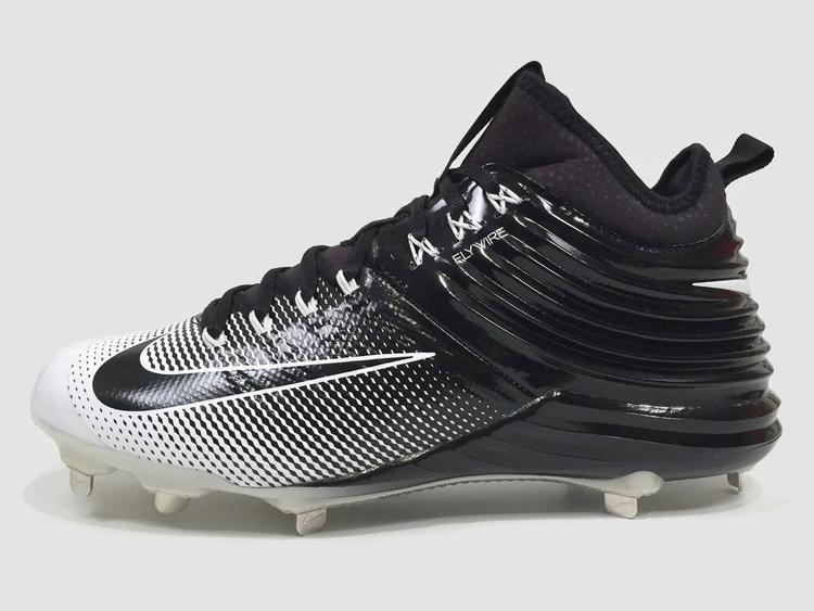 34689b5607b New Nike Lunar Vapor Trout 2 Metal Men s Baseball Cleats sz 9 Black White  Oreo 807127