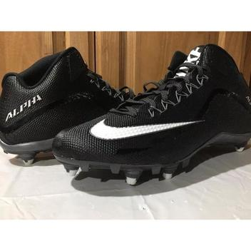 f145538be  42. 2 · Nike Men s Alpha Pro 2 Football Cleat Spike Shoe Black White Size  ...