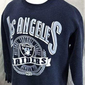 094f6d83b VINTAGE 90 S LOS ANGELES RAIDERS (LARGE) RETRO NFL FOOTBALL GRAPHIC CREW  NECK SWEATSHIRT