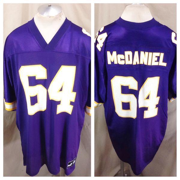 1dada1ee9 VINTAGE PUMA RANDALL MCDANIEL #64 (XL) MINNESOTA VIKINGS NFL FOOTBALL JERSEY