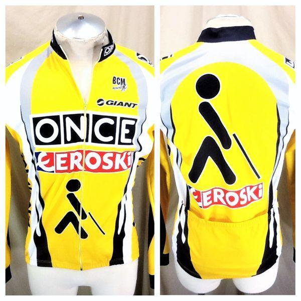 ONCE EROSKI TOUR DE FRANCE (5 LARGE) LONG SLEEVE FULL ZIP UP THERMAL JERSEY   7e945576a