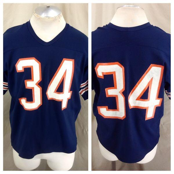sale retailer d89fe 5437a VINTAGE 80'S RAWLINGS WALTER PAYTON #34 (XL SHORT) CHICAGO BEARS FOOTBALL  JERSEY