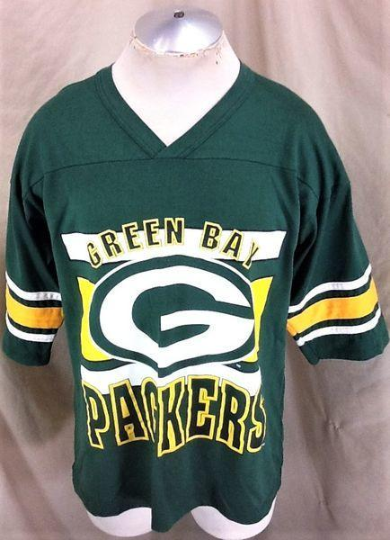 brand new 1394f 15bcc VINTAGE 90'S GREEN BAY PACKERS FOOTBALL (XL) RETRO NFL GRAPHIC T-SHIRT GREEN