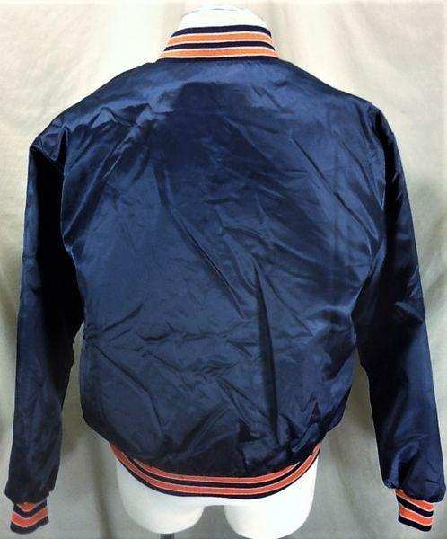 separation shoes b7499 138bc VINTAGE 1980'S SWINGSTER CHICAGO BEARS (LARGE) SNAP UP NFL SATIN JACKET |  Football Apparel | SidelineSwap