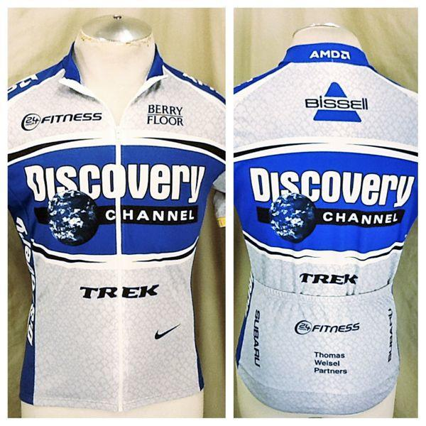 33b804c6a NIKE DISCOVERY CHANNEL TREK CYCLING JERSEY (MEDIUM) FULL ZIP UP DRI-FIT  CYCLING JERSEY