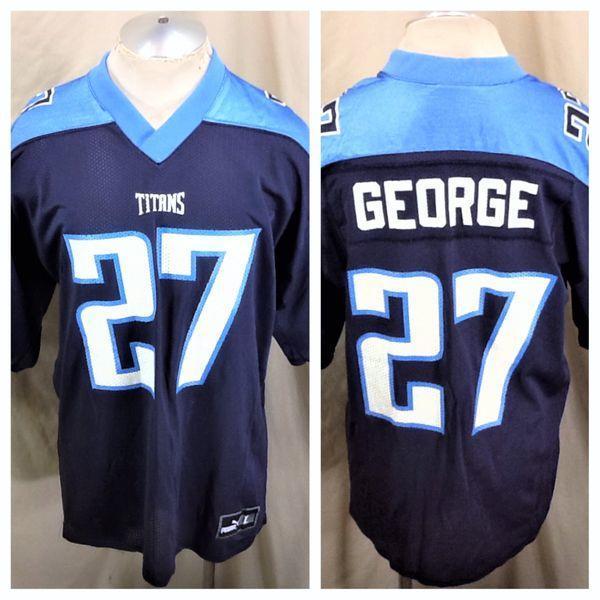 hot sale online 28daf 94eaa VINTAGE PUMA TENNESSEE TITANS FOOTBALL (LARGE) RETRO EDDIE GEORGE #27 NFL  JERSEY