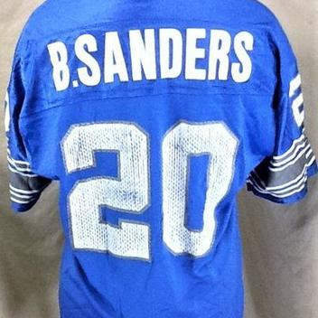e72301d90 VINTAGE 90 S CHAMPION DETROIT LIONS (LARGE) BARRY SANDERS  20 NFL FOOTBALL  GRAPHIC JERSEY. Comments (0) Favorites (1)