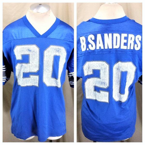 free shipping 1497e 17ffa VINTAGE 90'S CHAMPION DETROIT LIONS (LARGE) BARRY SANDERS #20 NFL FOOTBALL  GRAPHIC JERSEY