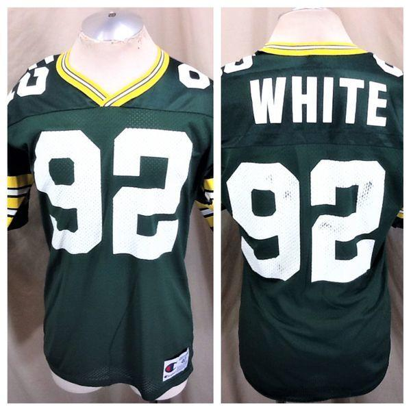new product 19158 320cf VINTAGE 90'S CHAMPION GREEN BAY PACKERS (40/MEDIUM) REGGIE WHITE #92 NFL  JERSEY