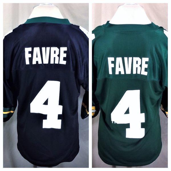 6ad45fde VINTAGE 90'S REEBOK GREEN BAY PACKERS (48/XL) BRETT FAVRE #4 REVERSIBLE NFL  JERSEY