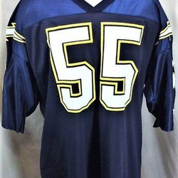 a891343cc31 VINTAGE 90'S JUNIOR SEAU #55 SAN DIEGO CHARGERS (44/XL) GRAPHIC NFL  FOOTBALL JERSEY