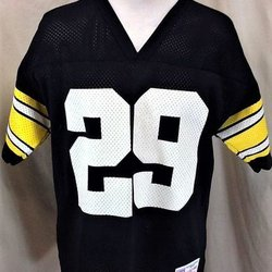 VINTAGE 90 S LOGO 7 PITTSBURGH STEELERS BARRY FOSTER  29 (MEDIUM) RETRO  GRAPHIC NFL FOOTBALL JERSEY ca8189cd4