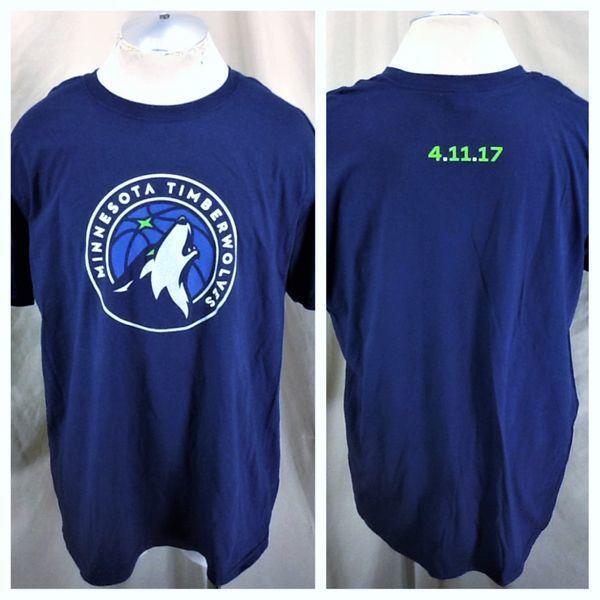 New Minnesota Timberwolves New Logo Xl Nba Graphic T Shirt Blue