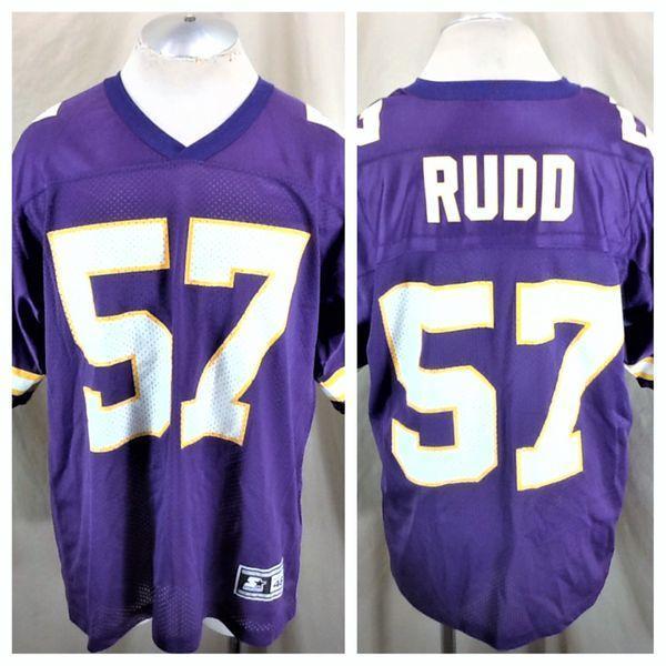 official photos e26b4 87d9a VINTAGE 90'S STARTER MINNESOTA VIKINGS DWAYNE RUDD #57 (48/LARGE) RETRO NFL  FOOTBALL JERSEY