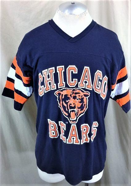 sports shoes c4d45 8a9de VINTAGE 90'S LOGO 7 CHICAGO BEARS (LARGE) RETRO NFL FOOTBALL GRAPHIC SHIRT