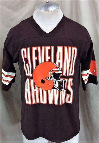 the best attitude 7d119 8f4ab VINTAGE 90'S CLEVELAND BROWNS (LARGE) RETRO NFL FOOTBALL GRAPHIC T-SHIRT