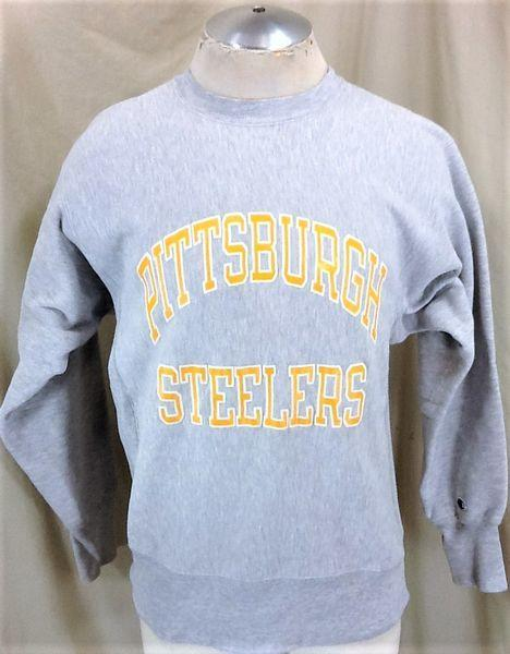 best service c2f7a 2362e VINTAGE 90'S CHAMPION PITTSBURGH STEELERS (LARGE) NFL FOOTBALL REVERSE  WEAVE SWEATSHIRT