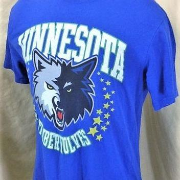 MITCHELL   NESS MINNESOTA TIMBERWOLVES (LARGE) RETRO GRAPHIC NBA BASKETBALL  SHIRT 111b6349f