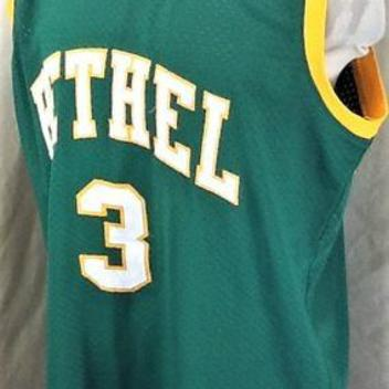 1c9496573218 VINTAGE ALLEN IVERSON  3 BETHEL HIGH SCHOOL (2XL) RETRO STITCHED BASKETBALL  JERSEY GREEN. Related Items