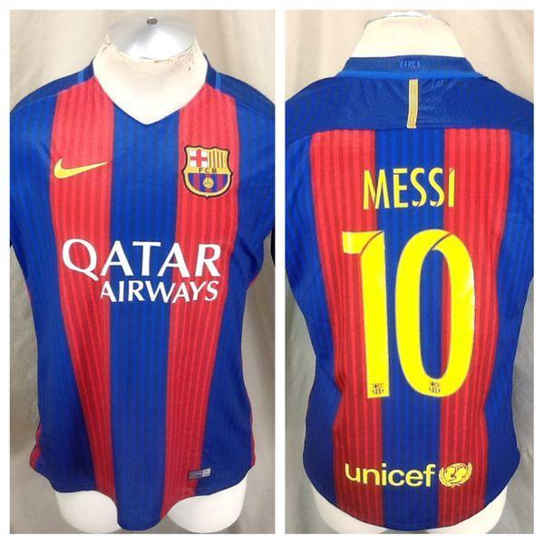 best service 080e1 c0944 AUTHENTIC 2016 NIKE BARCELONA FUTBOL CLUB (LARGE) LIONEL MESSI #10 DRI-FIT  SOCCER JERSEY