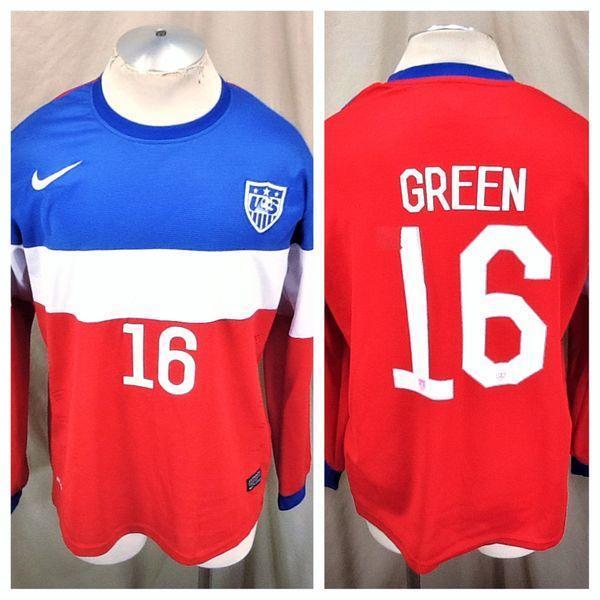210b2af60 2014 NIKE DRI-FIT TEAM USA SOCCER JULIAN GREEN  16 (XL) RETRO WORLD CUP  FUTBOL KIT