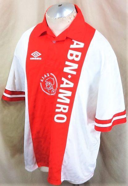 f29e30e91bb UMBRO 2002 AJAX AMSTERDAM NETHERLANDS (2XL) RETRO HOME PULLOVER FUTOBOL  JERSEY | Soccer Apparel & Jerseys | SidelineSwap