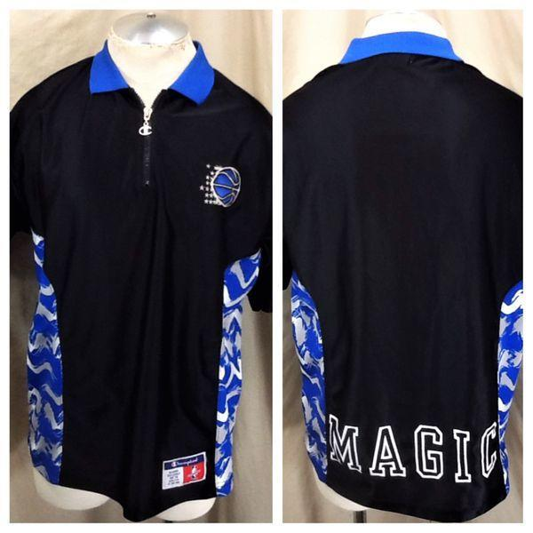 7cc9a88f4 VINTAGE 90 S ORLANDO MAGIC BASKETBALL (LARGE) PULLOVER WARM UP NBA SHOOTING  SHIRT. Related Items