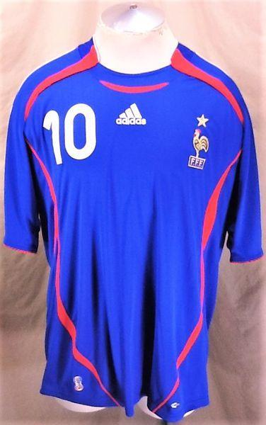 a9136efa1 Adidas 2006 WORLD CUP ZINEDINE ZEDENE  10 (XL) RETRO GRAPHIC CLIMACOOL  JERSEY