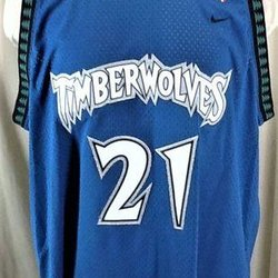 695ee63dbb2b VINTAGE NIKE MINNESOTA TIMBERWOLVES KEVIN GARNETT  21 (2XL) STITCHED NBA  BASKETBALL JERSEY