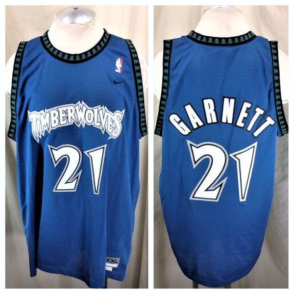 284707bc45d2 VINTAGE NIKE MINNESOTA TIMBERWOLVES KEVIN GARNETT  21 (2XL) STITCHED NBA  BASKETBALL JERSEY. Related Items