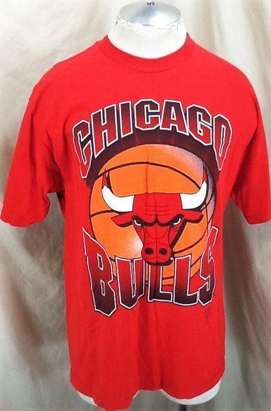 new style b0a22 9c72b VINTAGE LOGO 7 CHICHAGO BULLS NBA BASKETBALL (XL) RETRO GRAPHIC T-SHIRT